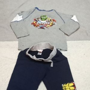 MARVEL matching set gray and blue 2-2t